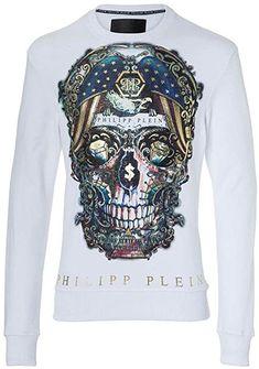 462380d96fb Philipp Plein - Sweat-shirt - Manches Longues - Homme Blanc blanc - Blanc -