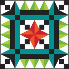 """Online Quilt Block Design Contest starts August 2016 Grand Prize Winner was this """"Point of View"""" block by Terri Vanden Bosch .Will your design be the winning block for Barn Quilt Designs, Barn Quilt Patterns, Quilting Designs, Quilt In A Day, The Quilt Show, Star Quilt Blocks, Star Quilts, Scrappy Quilts, Painted Barn Quilts"""