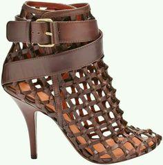 Net high heel sandals