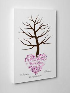 Wedding Tree / Hochzeitsbaum auf Leinwand 40x60cm  Amelia  individuell