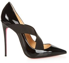 christian louboutin colorblock patent leather ankle-strap pumps