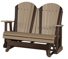 Glide Away Your Worries In Our Adirondack Glider Chairs! Amish Furniture  Factory Is Proud To Handcraft Poly Vinyl Outdoor Furniture You Can Count On.