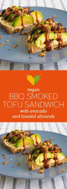 When you want to pimp your vegan sandwich then this is right up your street. Smokey flavours and BBQ sauce in combination with the courgette, avocado and toasted almonds really make this a treat.