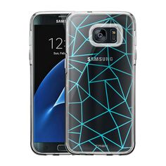 Samsung Galaxy S7 Edge Turquoise Triangles Case
