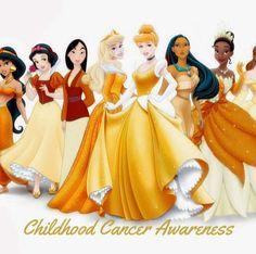 Childhood cancer awareness disney princesses