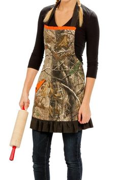 Camouflage Apron with Ruffles