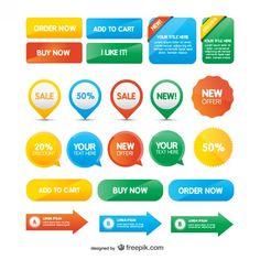 Paquete gratuito de 50 botones web