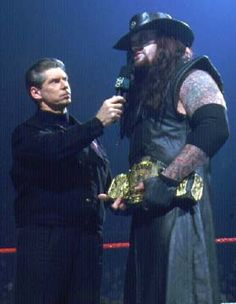 The Undertaker with vince mcmahon