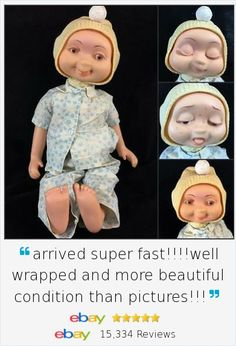 """If a child came down with chicken pox in 1961, it was likely they received this unusual American Character """"Hedda Get Bedda"""" Whimsie doll as a get well gift! Three faces urn from poor sick face to sleepy face to finally the """"all better"""" face with knob on top. See video!"""
