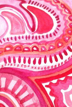 Pink pattern by @Printelas on Instagram