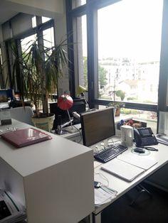 Outre sa belle vue, Karine a ajouté à son bureau une très jolie plante ! Karine est gestionnaire liquidité pour Crédit Agricole S.A.