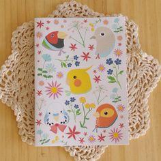 Life in the Aviary Birds Greeting Card by eevamargita on Etsy, $4.00