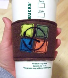 Reusable Cup Cozy - this would be so exciting to find in a cache. Geocaching, Wood Router, Wood Lathe, Cnc Router, Swag Ideas, Reusable Coffee Cup, Cup Sleeve, Auction Projects, Creative