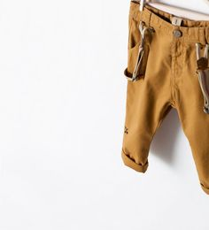 Image 1 of EMBROIDERED TROUSERS WITH SUSPENDERS from Zara