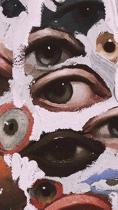 Psychedelic Art, Urbane Kunst, Arte Sketchbook, Eye Painting, Hippie Art, Pretty Art, Surreal Art, Aesthetic Art, Aesthetic Eyes