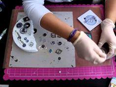 Tutorial Ice Resine Bellaluna crafts Scrapbooking