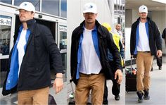 Just in time for Fall, actor Josh Duhamel wearing the K•WAY Manfield in Los Angeles earlier this week. http://k-way.ca/en/38-manfield-cotton-plus.html