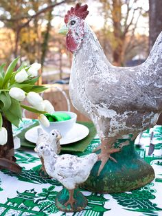 I love antique chickens for some reason