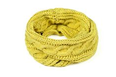 Warm snood in lovely lime colour from LAVAiii by LUSSON# lusson.pl