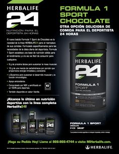 Nuevo sabor de batido Formula 1 Sport #Herbalife24 para el mercado NAM (Norte America). #Herbalife