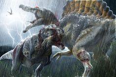 Titans by Herschel-Hoffmeyer on DeviantArt | T. rex vs Spinosaurus
