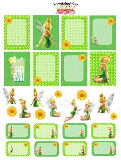 Tinkerbell Planner Sticker Set by SugaryGaLShop on Etsy