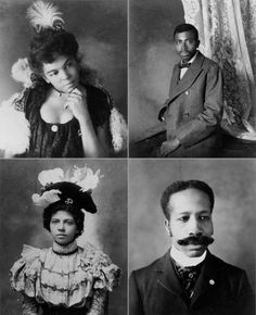 """""""To counter the negative images of African Americans in the late 19th century, W.E.B. Du Bois displayed portraits of middle-class blacks at the Paris Exposition of 1900."""" (http://www.theroot.com/multimedia/web-du-bois-paris-album)"""