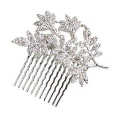 Giana Vine Comb - in Swarovski crystal - Bridal Jewellery - Crystal Bridal Accessories