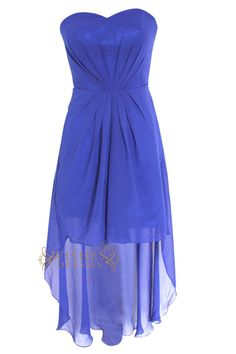 A-line Sweetheart Royal Blue Chiffon High Low Prom Dress Am97