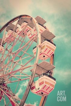 Vintage Ferris Wheel Premium Poster by SeanPavonePhoto at Art.com