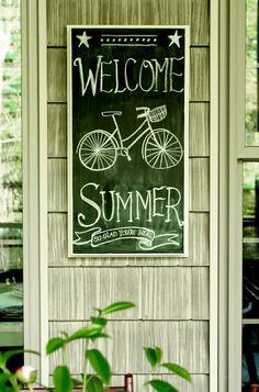 Summer chalkboard art