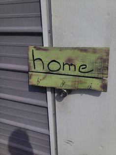 Home with key hooks