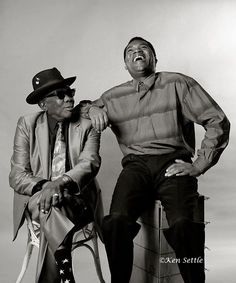 """John Lee Hooker and Robert Cray-one of my favourites Robert Cray songs Like """"Strong Persuader"""" cool dude."""