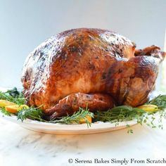 Super Juicy Turkey Baked In Cheesecloth | Serena Bakes Simply From Scratch