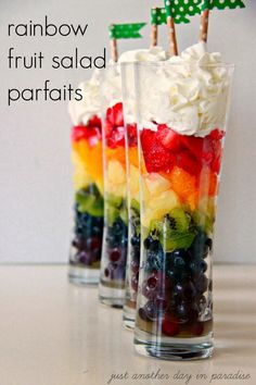 Rainbow Fruit Salad fruit rainbow recipe recipes healthy recipes party ideas st patricks day