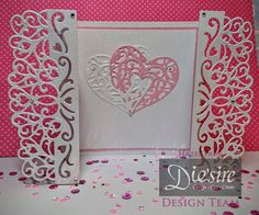 Hazel Parr - Die'sire Heart gate fold Card - Die'sire Fancy Edge'ables - Renaissance, Die'sire A6 'Create-a-Card' Metal Die - Adore Die, Textures 8x8 Embossing Folders - Leaf Vein Embossing Folder, Fresh Pink - Centura Pearl A4 Printable Card Pack (10 sheets), Crafter's Companion Snow White Silver - Centura Pearl, Collall All Purpose Glue.  Collall Tacky Glue, Easy Crystal Lian Crystal Arts and Crafts Starter Kit, Easy Crystal Lian Crystal Refill- AB Crystal - #crafterscompanion