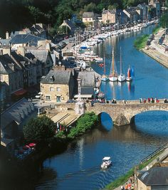 Dinan, France - along the Rance River estuary (looks exactly like this!!!)