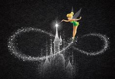 This would be a awesome tattoo 😍 Tinkerbell And Friends, Tinkerbell Disney, Disney Fairies, Arte Disney, Tinkerbell Drawing, Hades Disney, Disney Images, Disney Pictures, Disney Dream