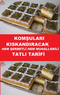 Muhallebili ve Şerbetli En Kolay Tatlı Tarifi/ – Tatlı tarifleri – Las recetas más prácticas y fáciles Easy Desserts, Dessert Recipes, Dinner Recipes, Sorbet, Custard Desserts, Turkish Delight, Iftar, Turkish Recipes, Deserts