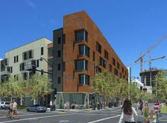 David Baker Architects: Mission Bay South Block 7 West, affordable workforce housing in the new Mission Bay neighborhood in San Francisco. Developed by the Related Companies.