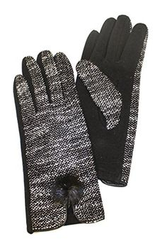 Unique Styles Women's Fashion Bowknot Warm Soft Fleece Outdoor Thick Cold Weather Winter Gloves - Assorted Styles (Black) ** Click on the image for additional details.