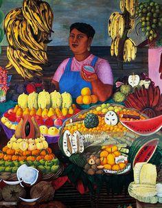 La vendedora de frutas, 1951 - Olga Costa (1913 a 1993)