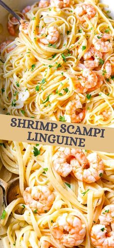 Indulge in this Shrimp Scampi Linguine for a special occasion dinner. Shrimp cooked in garlic butter sauce with a splash of white wine, then tossed with linguine. Whether it's a dinner for TWO or a crowd, this simple shrimp scampi recipe is quick, easy and light on the ingredients, that is guaranteed to impress.