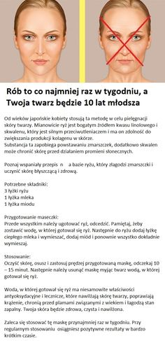 Rób to co najmniej raz w tygodniu, a Twoja twarz będzie 10 lat młodsza. Beauty Care, Diy Beauty, Beauty Hacks, Face Care, Body Care, Skin Care, Make Up Tricks, Face Massage, Natural Cosmetics