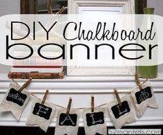 52 Mantels: Chalkboard & Burlap Banner Tutorial