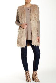 Ro & De Faux Fur Vest