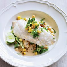 Chorizo Oil-Poached Red Snapper with Grilled Corn Salad | Food & Wine