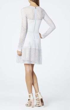 BCBGMAXAZRIA Kyla A-Line Long-Sleeve Dress | BCBG.com
