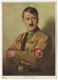 Hitler color art PC #7064 from the original by Hans Toepper. Used with Austrian Union stamp