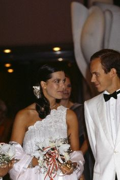 Princess Caroline and Prince Albert of Monaco during The Red Cross Gala.August,1985.